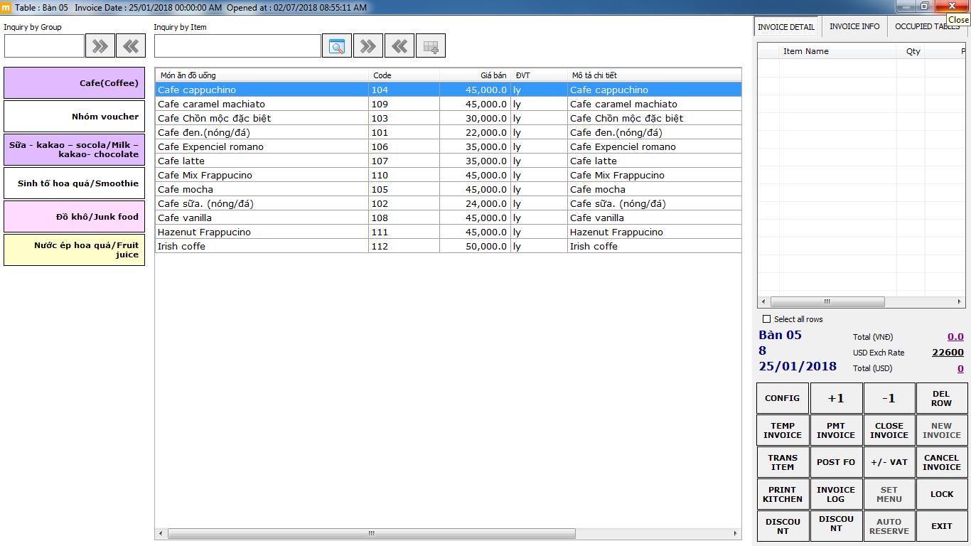 phần mềm quản lý nhà hàng MEMO